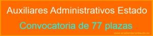 Auxiliares Administrativos Estado 2015